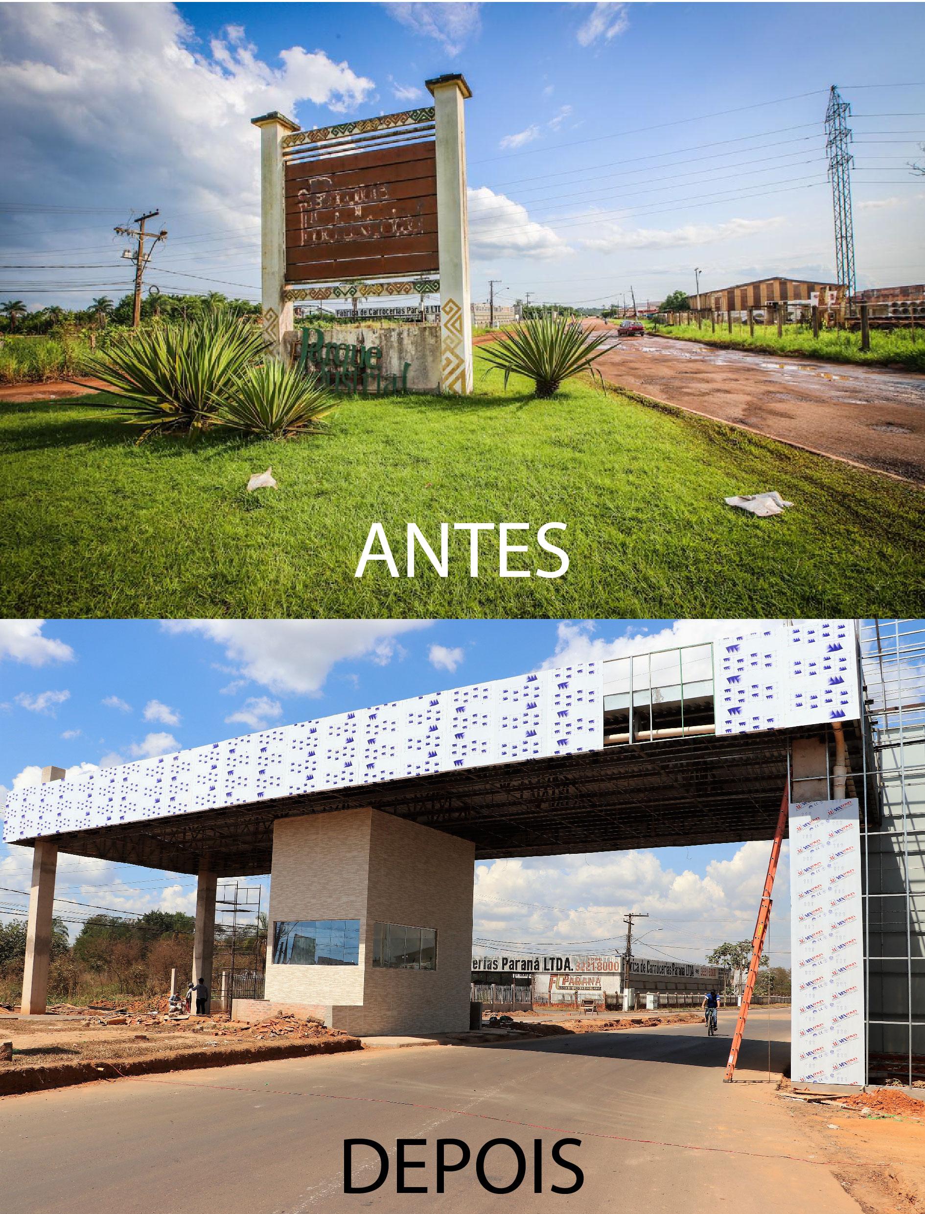 Parque Industrial antes e depois 1
