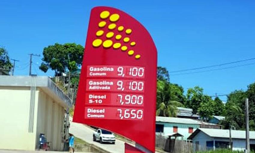 Preço do litro da gasolina no interior do Acre chega a R$ 9,10 |  ac24horas.com - Notícias do Acre